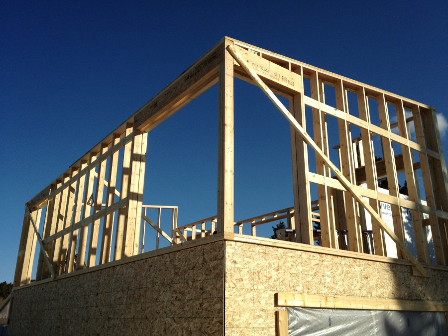 Staggered stud walls, double walls framing, bozeman custom homes ...